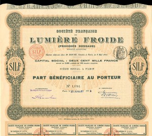 Societe Francaise Lumiere Froide