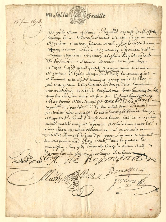 1678 Document - SOLD