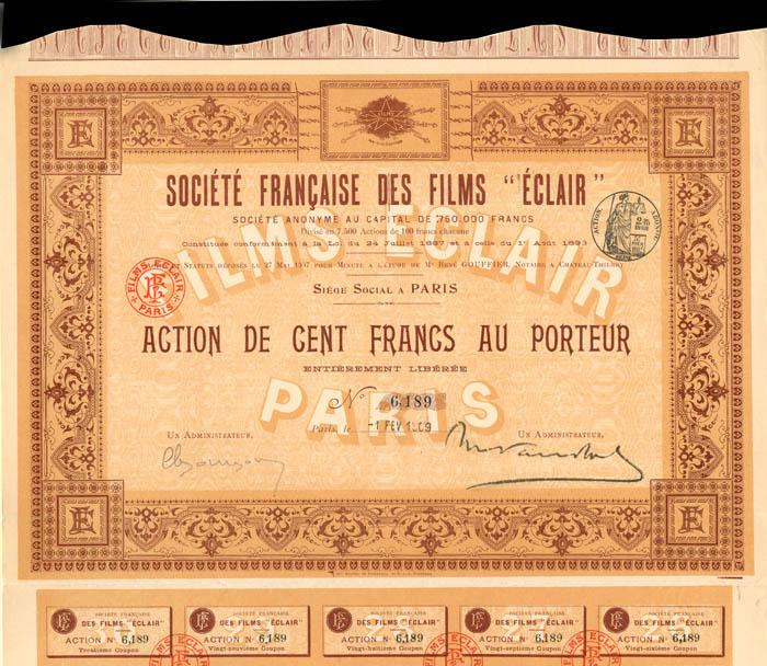 """Societe Francaise Des Films """"Eclair"""""""