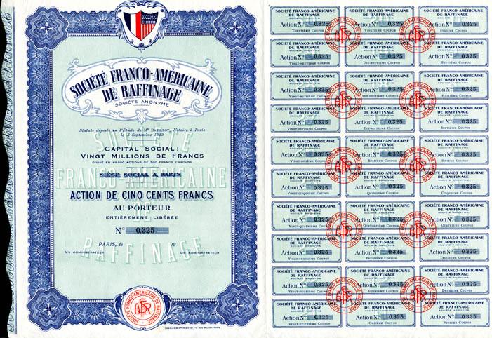 Societe Franco-Americaine De Raffinage