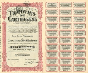 Tramways De Carthagene - 5,000,000 Francs