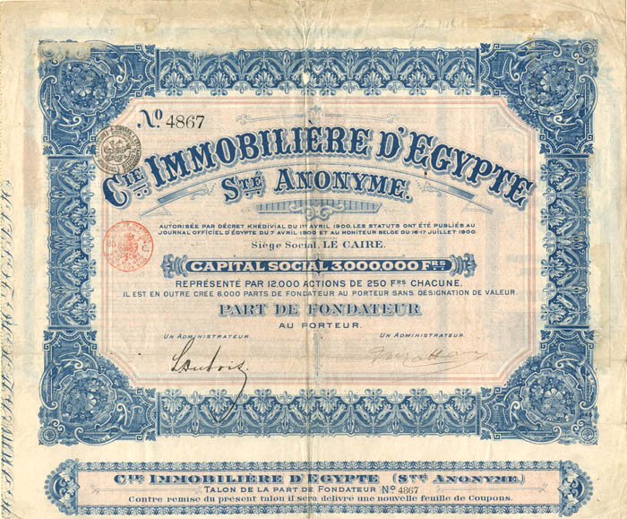 Cie Immobiliere D'Egypte