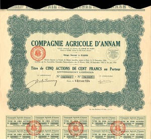 Compagnie Agricole D'Annam