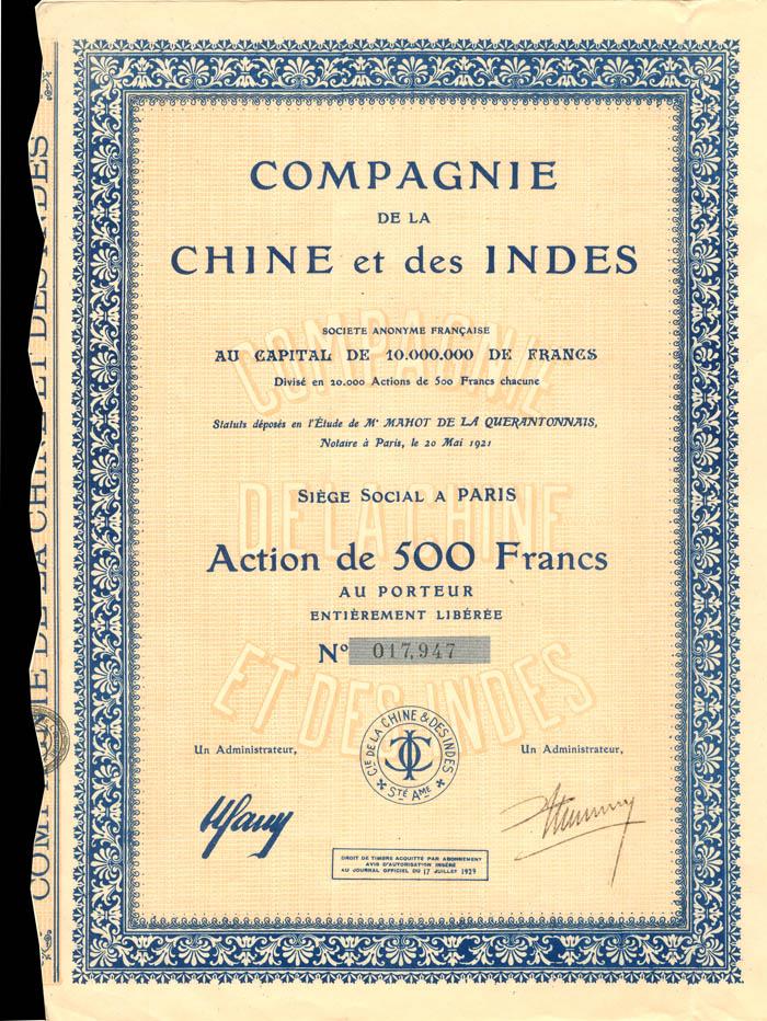 Compagnie De La Chine et des Indes