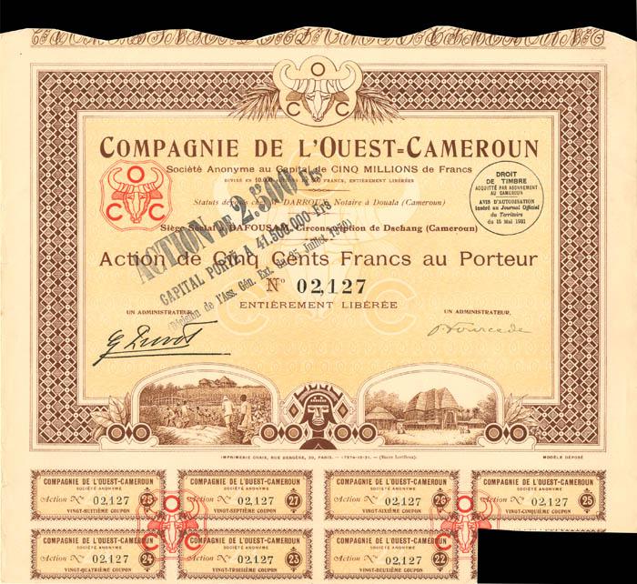 Compagnie De L'Ouest=Cameroun