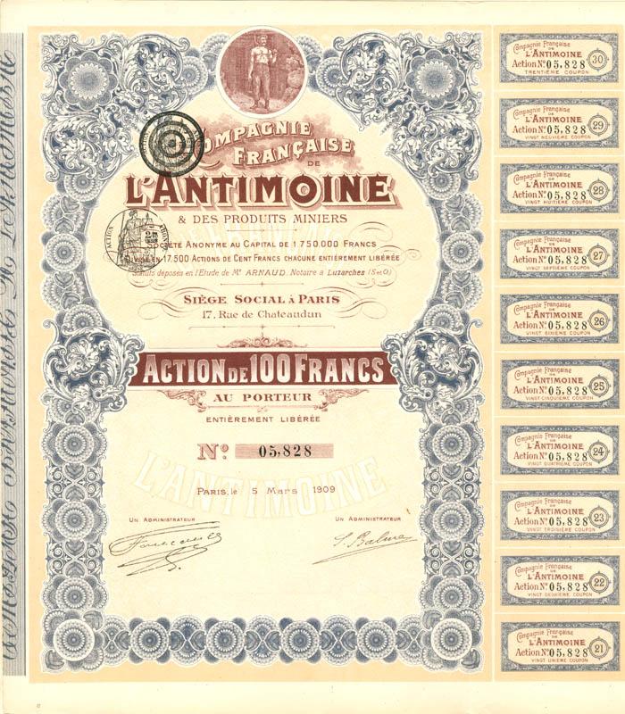 Compagnie Francaise De L'Antimoine