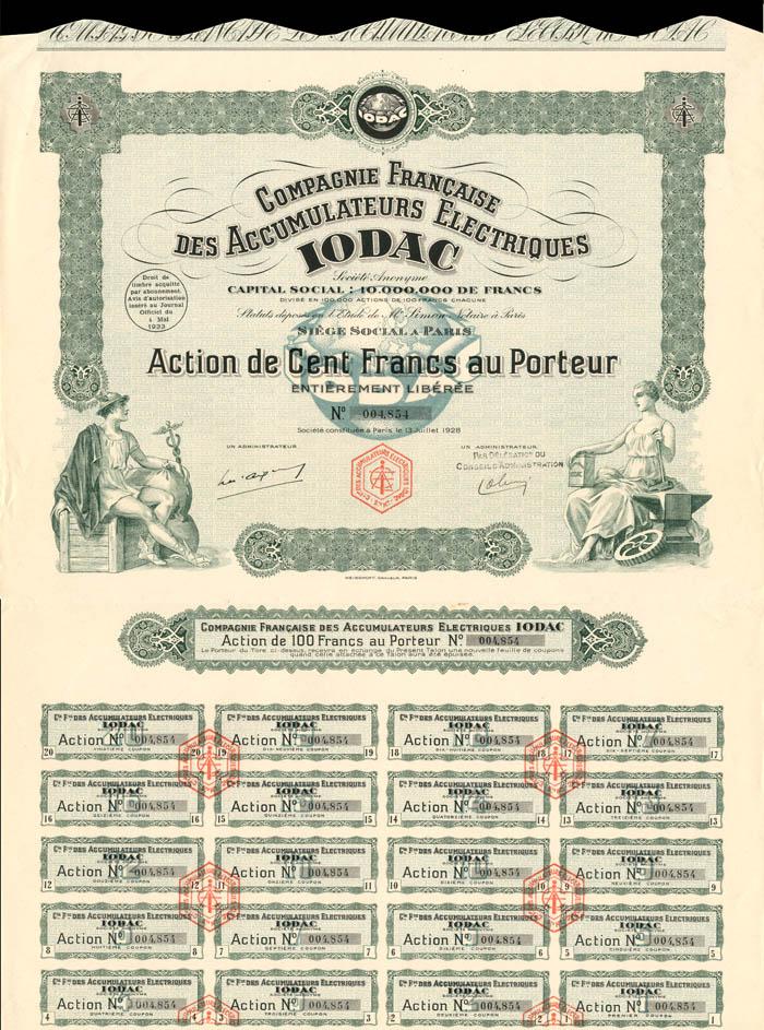 Compagnie Francaise Des Accumulateurs Electriques IODAC