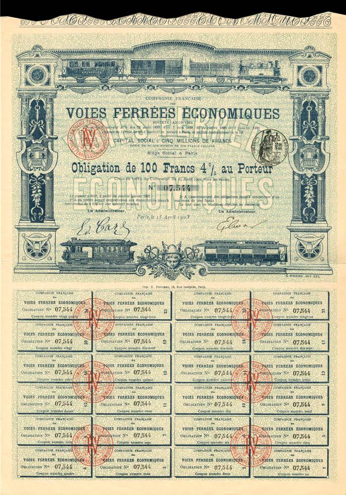 Compagnie Francaise Des Voies Ferrees Economiques