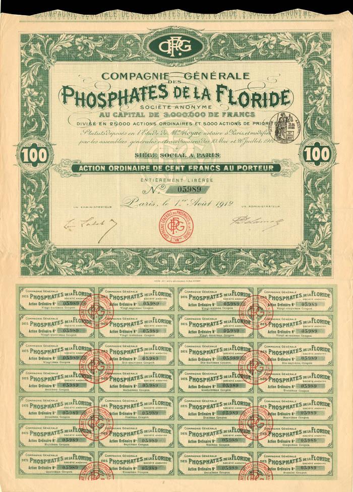 Compagnie Generale Des Phosphates De La Floride