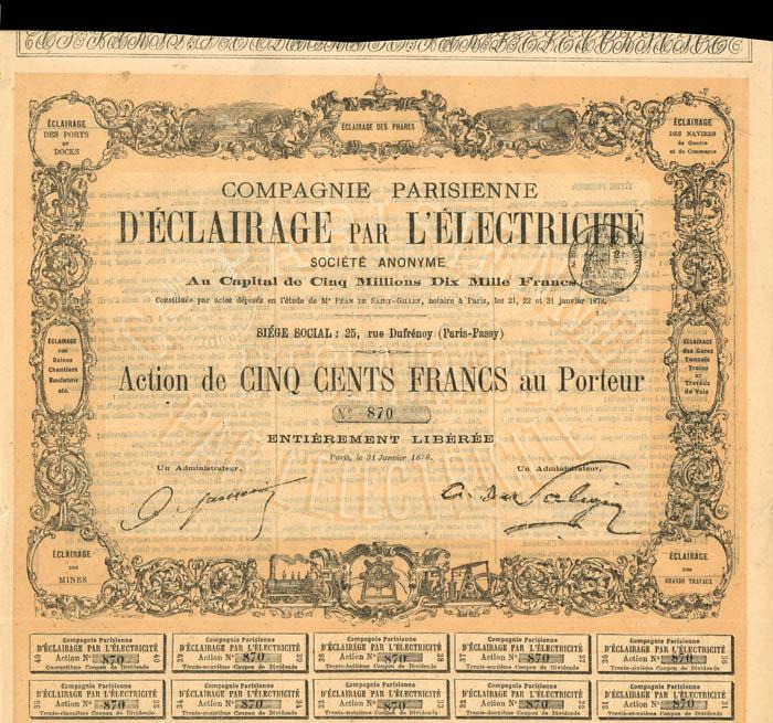 Compagnie Parisienne D'Eclairage Par L'Electricite