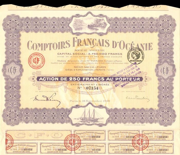 Comptoirs Francais D'Oceanie