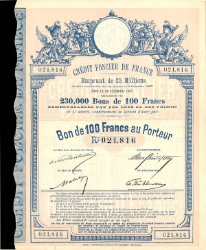 Credit Foncier De France - 100 Francs