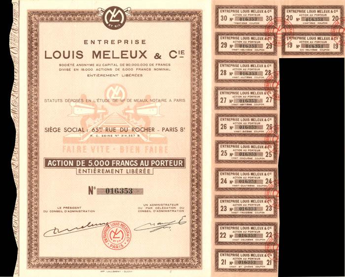 Entreprise Louis Meleux and Cie