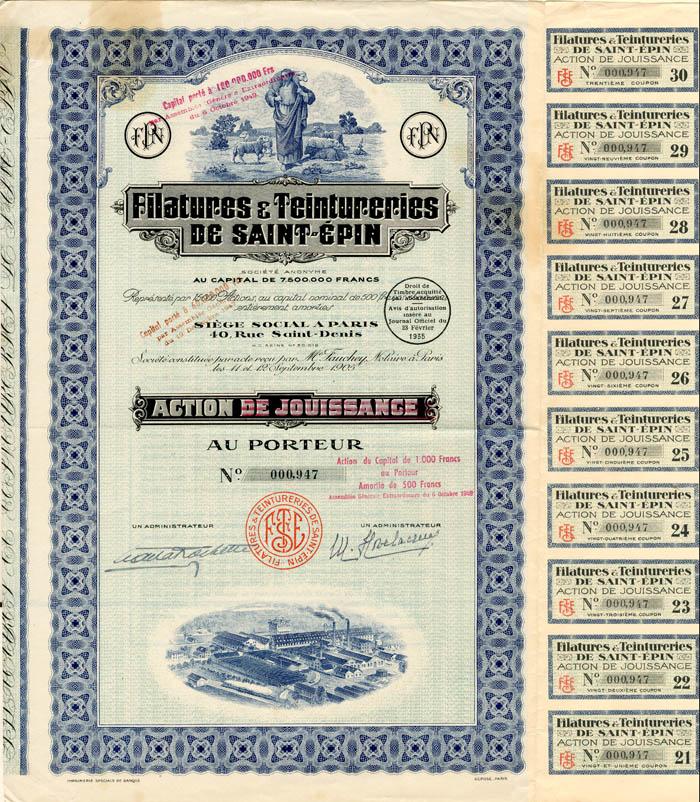 Filatures and Teintureries De Saint Epin