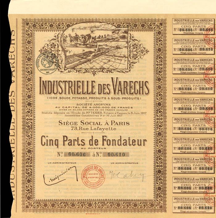 Industrielle Des Varechs