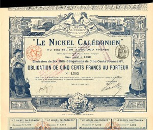 Le Nickel Caledonien - 500 Francs