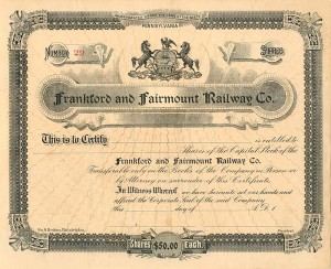 Frankford and Fairmount Railway Co.