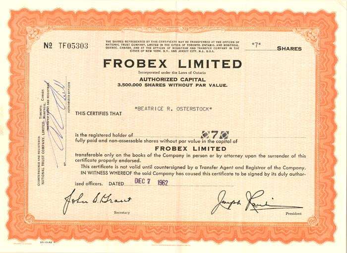 Frobex Limited