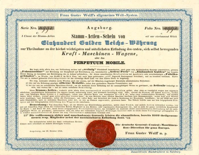 Franz Gustav Wolff's allgemeines Welt-System