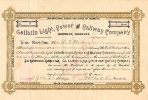 Gallatin Light, Power and Railway Company