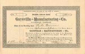 Gaysville Manufacturing Co.