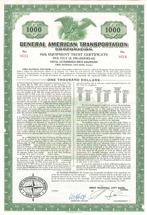 General American Transportation Bond