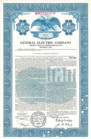 General Electric Co - $9,178,000 - Bond