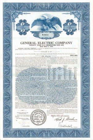 General Electric Co - Bond - SOLD