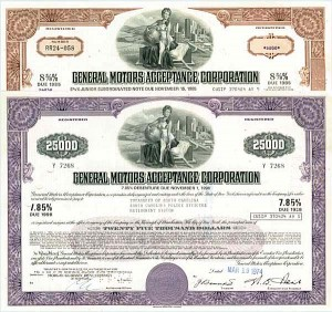 General Motors Acceptance Corporation Set of 2