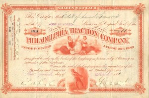 Philadelphia Traction Company signed by Geo. D. Widener