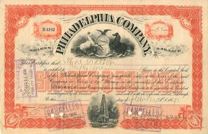 Philadelphia Company signed by George Westinghouse, Jr. - SOLD