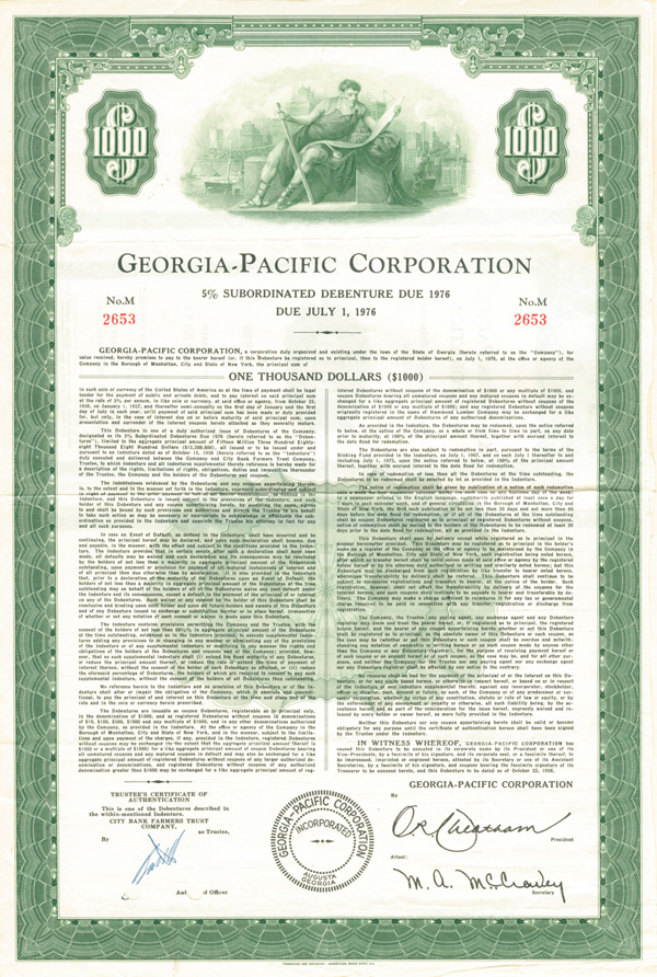 Georgia-Pacific Corp - Bond