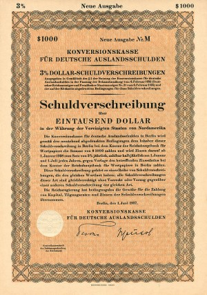 Schuldverschreibung - $1,000 - PRICE UPON REQUEST