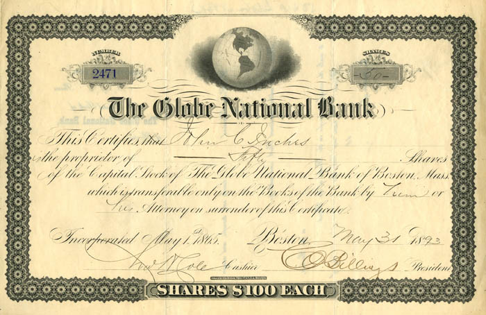 Globe National Bank