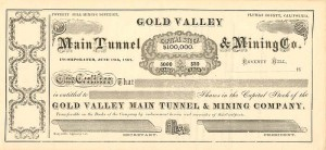 Gold Valley Main Tunnel & Mining Co.