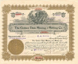 Golden Dale Mining and Milling Co. - SOLD