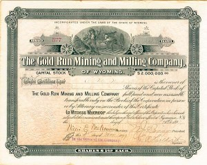 Gold Run Mining & Milling Company of Wyoming