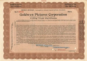 Goldwyn Pictures Corporation -SOLD