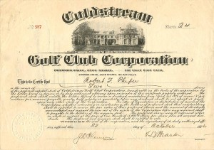 Coldstream Golf Club Corporation