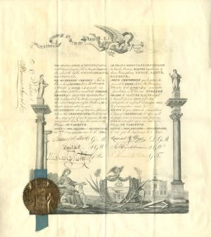 Masonic Membership Certificate - SOLD