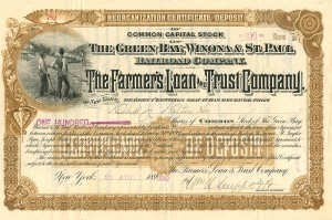 Green Bay, Winona & St. Paul Railroad Company - SOLD