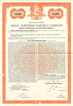 Great Northern Railway Company - SOLD