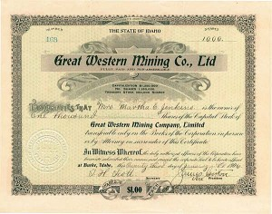 Great Western Mining Company, Ltd