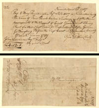 Pay Order signed by Benjamin Huntington