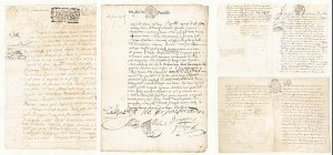 Collection of 4 Early Documents - SOLD