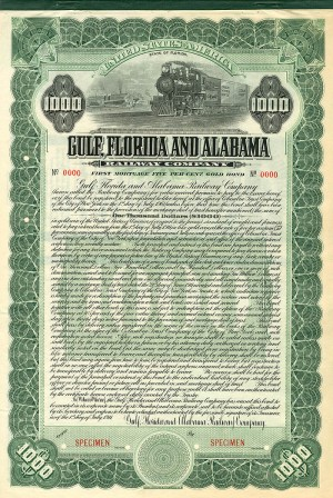 Gulf, Florida and Alabama Railway Company - SOLD