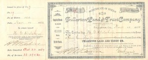Fullerton Land and Trust Company signed 3 times by H.G. Wilshire