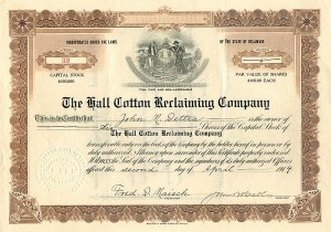 Hall Cotton Reclaiming Company
