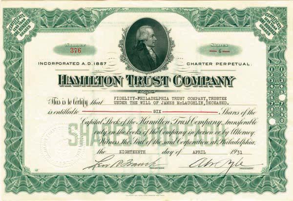 Hamilton Trust Company - SOLD