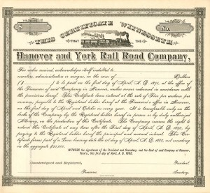 Hanover and York Rail Road Company